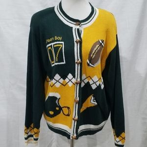 Christopher & Banks Green Bay Packers Cardigan